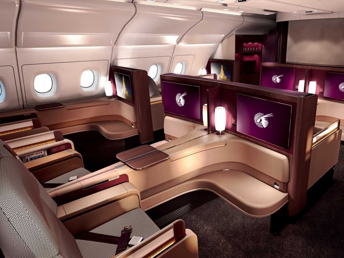 Qatar Airways Qsuite, quad configuration options