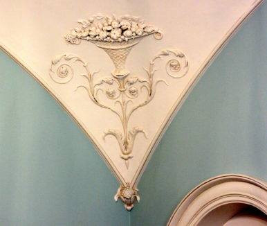 Stucco detail. Farmleigh. OPW