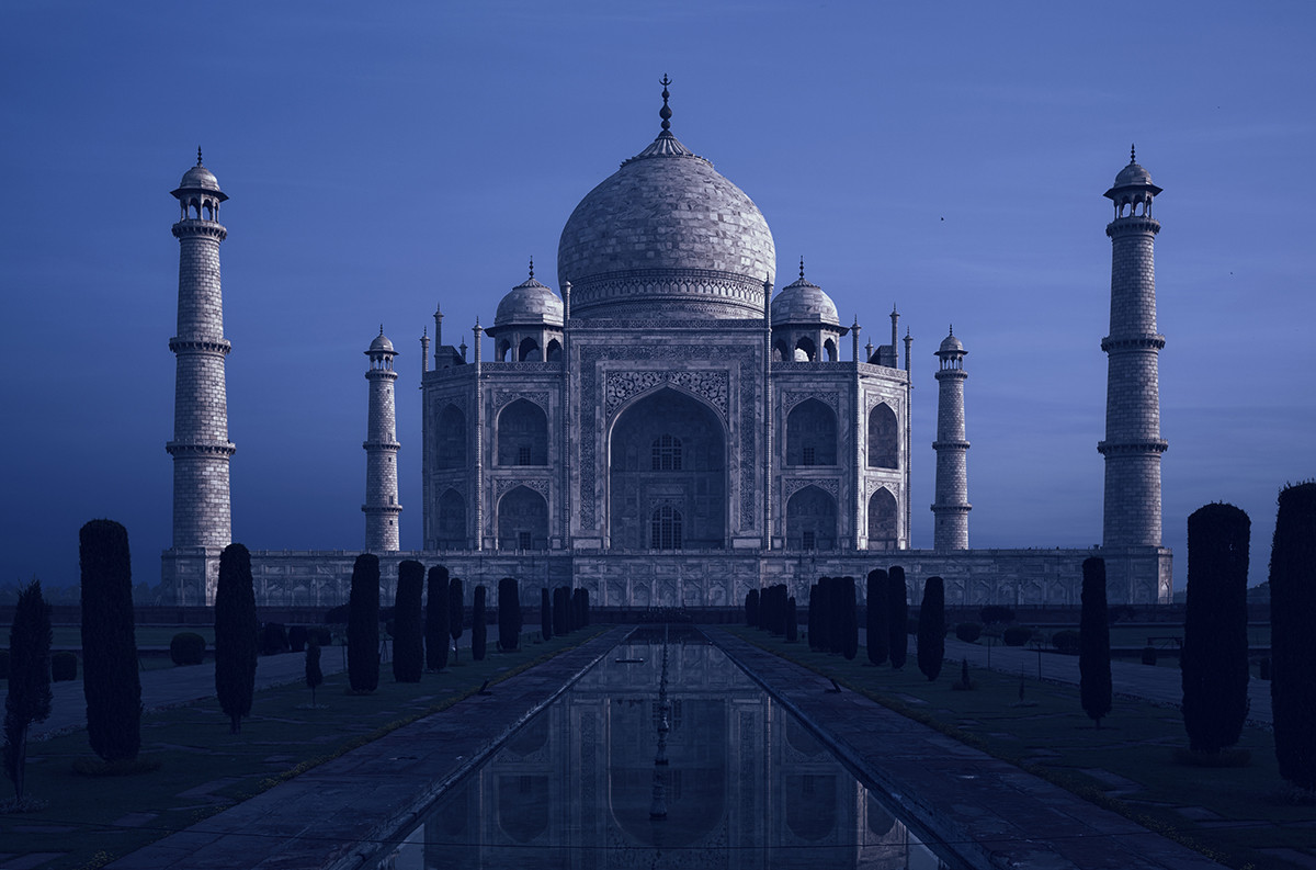 The enchanting Taj Mahal is one of the wonders of the world