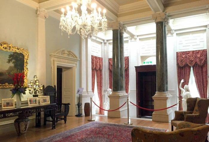 The Entrance Hall at Farmleigh. OPW