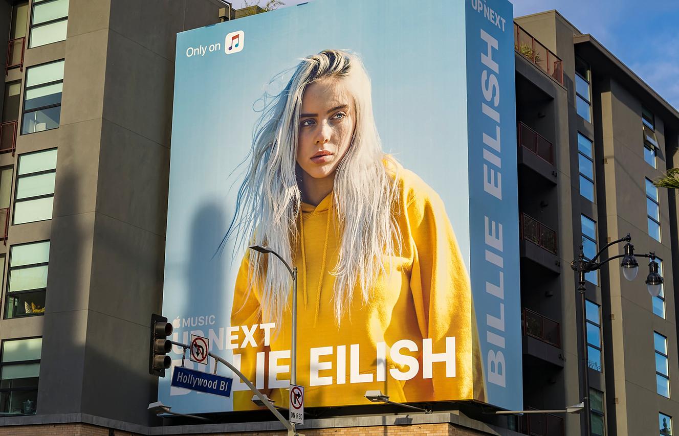 Billie Eilish Billboard on Hollywood Blvd.