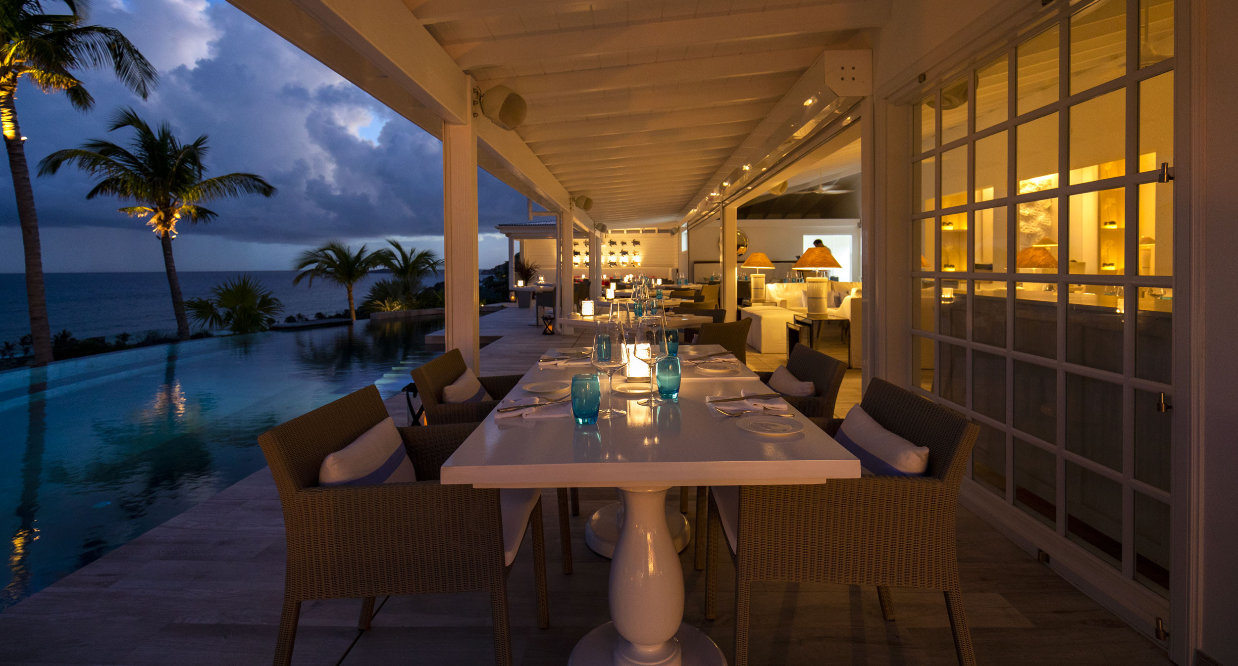 Toiny Restaurant is widely acclaimed as one of the best restaurants in the Caribbean.